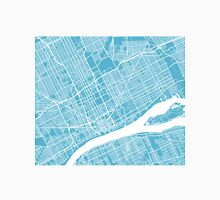 Detroit Map - Baby Blue Unisex T-Shirt