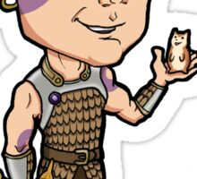 Baldur's Gate - Minsc the Ranger with Boo the Hamster Sticker