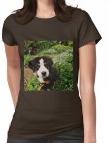 Puppy Art - Little Lily Womens Fitted T-Shirt