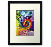 Colour wheel collage Framed Print