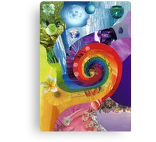 Colour wheel collage Canvas Print