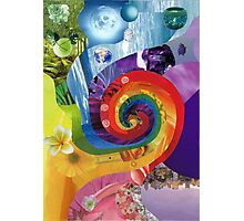 Colour wheel collage Photographic Print