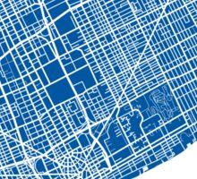 Detroit Map - Deep Blue Sticker