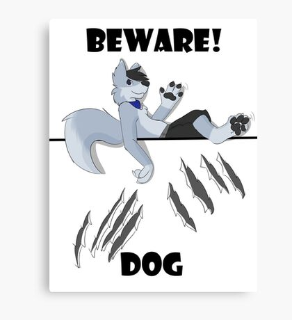 Beware dog claws and paws Canvas Print