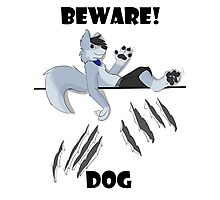 Beware dog claws and paws Photographic Print