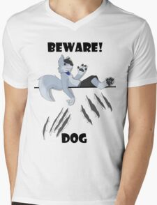 Beware dog claws and paws Mens V-Neck T-Shirt
