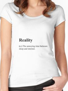 Funny Definition of Reality Women's Fitted Scoop T-Shirt
