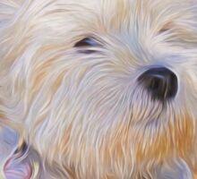 Dog Art - Just One Look Sticker