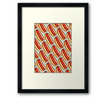 Hot Dog Pattern Framed Print