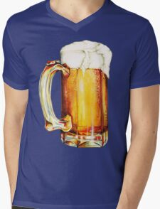 Beer Pattern Mens V-Neck T-Shirt