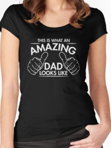 amazing dad Women's Fitted Scoop T-Shirt