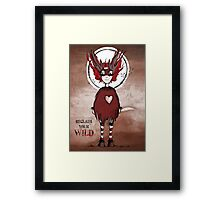 Girl Quirky—Reclaim your Wild Framed Print