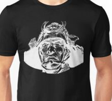 Samurai  Head White Unisex T-Shirt