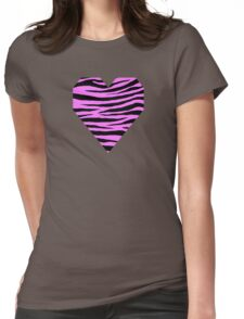 0279 Fuchsia Pink Tiger Womens Fitted T-Shirt