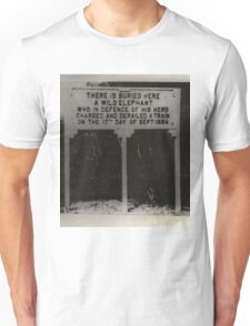 Elephant Buried here Unisex T-Shirt