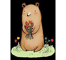 bear bouquet Photographic Print