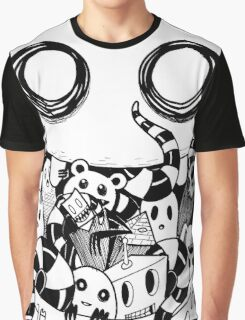 Little Doodle Monsters #4 Monster Mouth Graphic T-Shirt