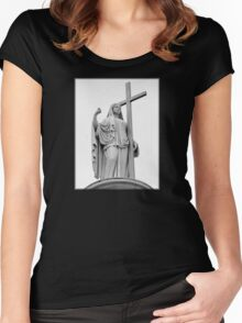 Overlooking The Cemetery Women's Fitted Scoop T-Shirt
