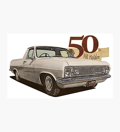 HR Holden Ute - 50th Anniversary - White Photographic Print