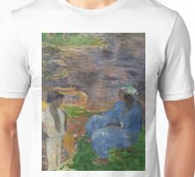 1887 - Gauguin - On the shore of the lake at Martinique Unisex T-Shirt