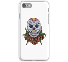 day of the dead face iPhone Case/Skin