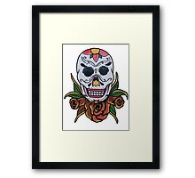 day of the dead face Framed Print