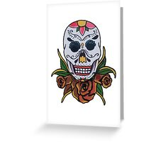 day of the dead face Greeting Card