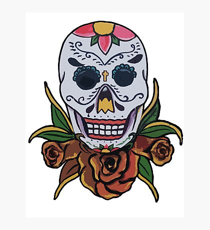 day of the dead face Photographic Print