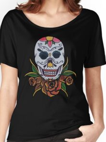 day of the dead face Women's Relaxed Fit T-Shirt