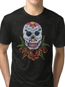 day of the dead face Tri-blend T-Shirt