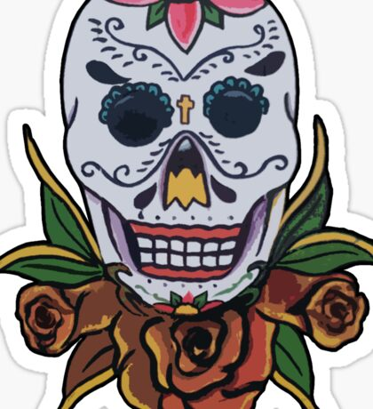 day of the dead face Sticker
