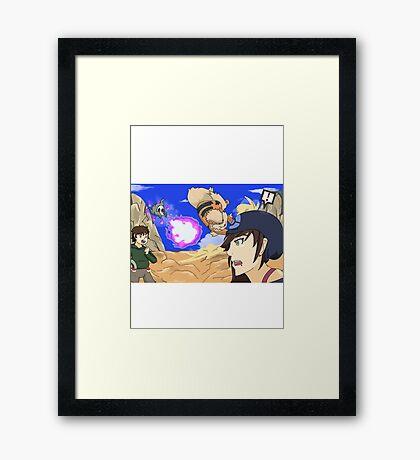 pokemon battle Framed Print