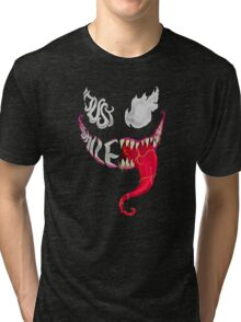 Venom just smiles  Tri-blend T-Shirt