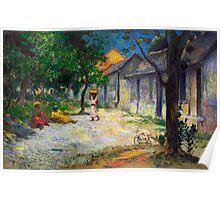 1887 - Gauguin - Village in Martinique (Femmes et Chevre dans le village) Poster