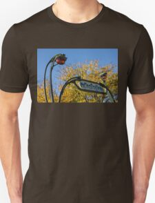 Famous Paris Metropolitain Sign with Golden Trees Background - Take Two T-Shirt