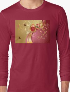 Decorative Easter Background 3 Long Sleeve T-Shirt