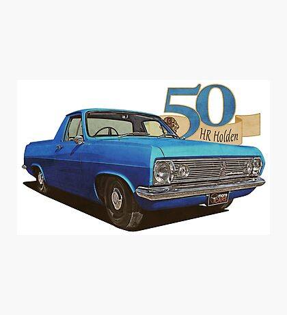 HR Holden Ute - 50th Anniversary - Met Blue Photographic Print