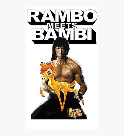 Hercules Returns - Rambo meets Bambi Photographic Print