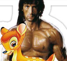 Hercules Returns - Rambo meets Bambi Sticker