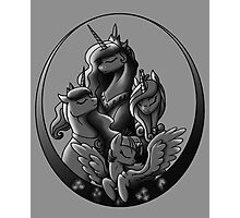 My Little Pony Princesses Grayscale Photographic Print