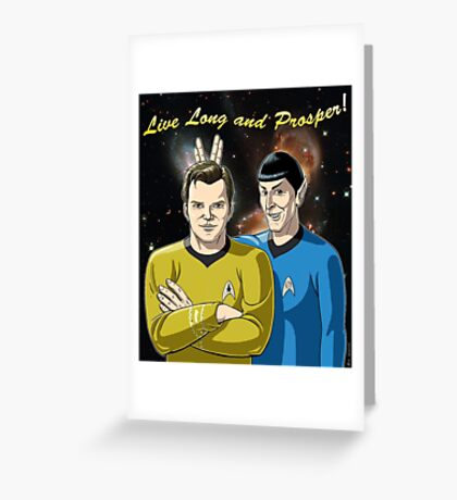 Star Trek - Kirk & Spock Greeting Card