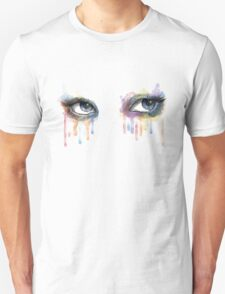 Colorful watercolor eyes  T-Shirt