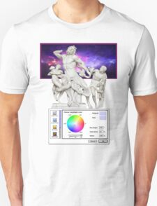 Galaxy Greeks Vaporwave Aesthetics T-Shirt