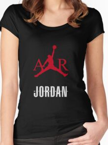 M Jordan air Women's Fitted Scoop T-Shirt