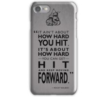 How Hard You Hit iPhone Case/Skin
