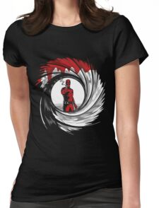 Superhero in Red Suit 007 Womens Fitted T-Shirt