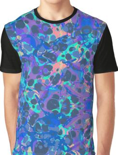 Blue Hip Hop Blob Splash Psychedelic Pattern  Graphic T-Shirt