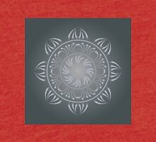 Mandala. Lace round pattern in grey colors Tri-blend T-Shirt