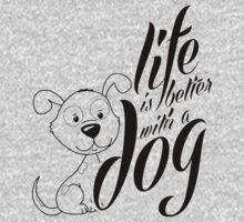 Better With a Dog Kids Tee