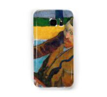 1888 - Gauguin -  Vincent van Gogh painting sunflowers Samsung Galaxy Case/Skin